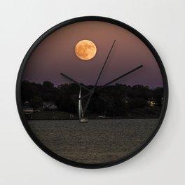 Super Moon Under Sail Wall Clock
