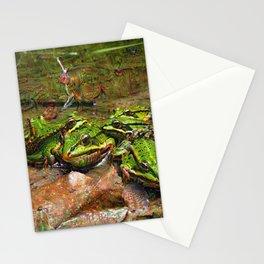 Dream Creatures, Frog, DeepDream Stationery Cards