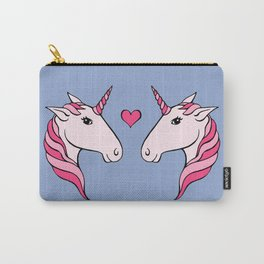 Pink Unicorn Couple Carry-All Pouch