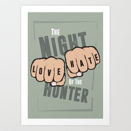 The Night of the Hunter - Alternative Movie Poster Art Print