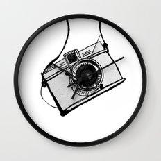 White Moodie Lomo Wall Clock
