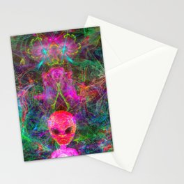 Kneel Before The Bubblegum Alien King (psychedelic) Stationery Cards