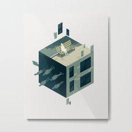 Cube 01 Metal Print