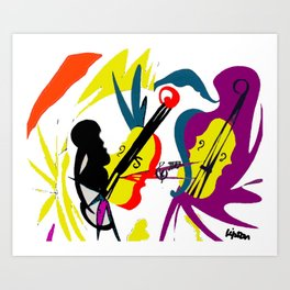 WAGENSEIL: Violin Concerto                 by Kay   Lipton Art Print