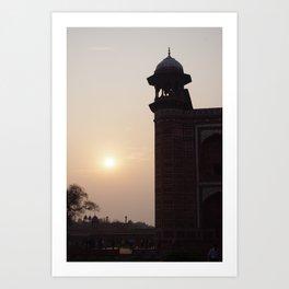 Indian Sunset at the Taj. Art Print