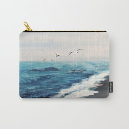 Watercolor Coast Carry-All Pouch