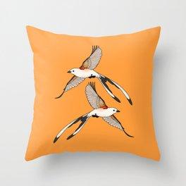 Scissor-tailed Flycatcher Throw Pillow