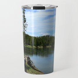 Serene Yellowstone River Travel Mug