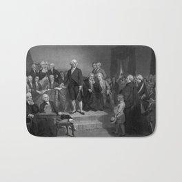 Washington Delivering His Inaugural Bath Mat