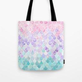 Cute Mermaid Pattern, Light Pink, Purple, Teal Tote Bag