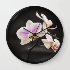 Orchid Dance Wall Clock