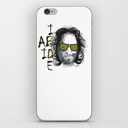 The Dude - Big Lebowski INK iPhone Skin