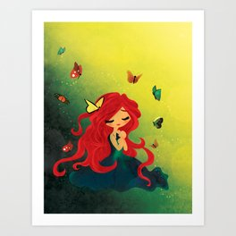 This Girl Only Sleeps with Butterflies Art Print