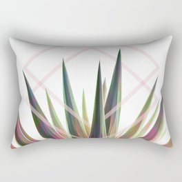 Tropical Desire - Foliage and geometry Rectangular Pillow