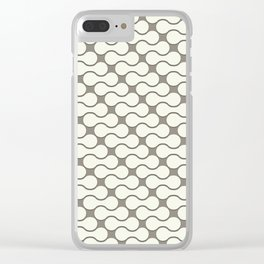 Leather pattern. Dumbbells Clear iPhone Case