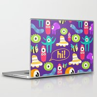 monsters Laptop & iPad Skins featuring monsters by Ceren Aksu Dikenci