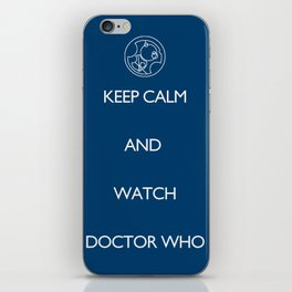 KEEP CALM and watch Doctor Who iPhone Skin