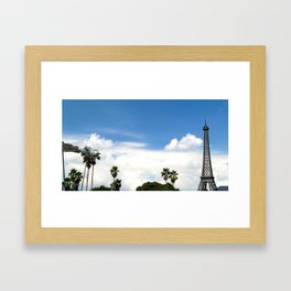 Age of Dinosaurs vs. La Tour Eiffel Framed Art Print