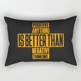 Lab No. 4 Positive Anything Elbert Hubbard Life Inspirational Quotes Rectangular Pillow