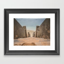 Stairway to the Ocean, Sri Lanka - Landscape Photography Framed Art Print