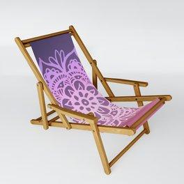 Sunset Sky Mandala Sling Chair