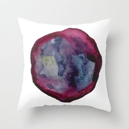 Cranberry Agate Watercolor Throw Pillow