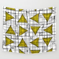 yellow pattern Wall Tapestries featuring Yellow by Ivano Nazeri
