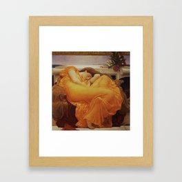 Frederic Leighton  -  Flaming June Framed Art Print