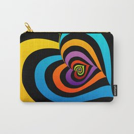 Valentine hearts twirling in rainbow colors Carry-All Pouch