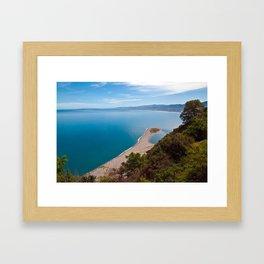 White Lagoon of Tindari on the Isle of Sicily Framed Art Print