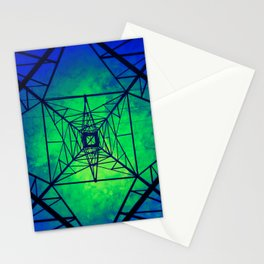 Powerline Tower  Stationery Cards