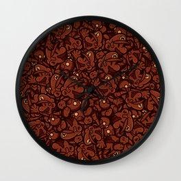 Chocolate Plumbers Wall Clock