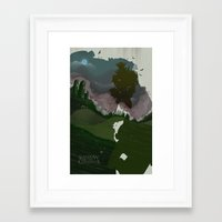 shadow of the colossus Framed Art Prints featuring Shadow Of The Colossus by Duke Dastardly