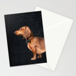 Elegant dachshund. Stationery Cards