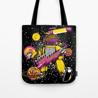 space jam Tote Bags featuring Space Jam Rhythm by playhouse