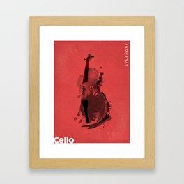 Symphony Series: Cello Framed Art Print