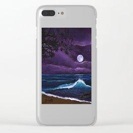 Romantic Kauai Moonlight Clear iPhone Case