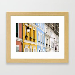 Colorful rue Crémieux, Paris Framed Art Print