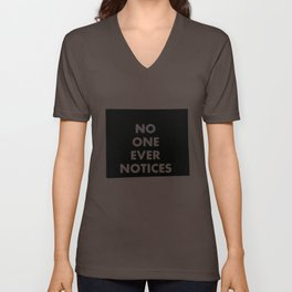no one Unisex V-Neck