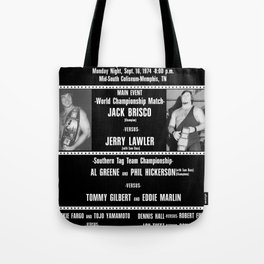 #1-B Memphis Wrestling Window Card Tote Bag