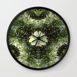 Yule Flower Wall Clock