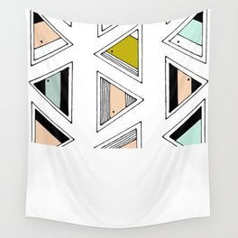 Retro Native Triangles Wall Tapestry