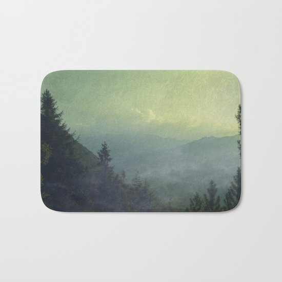 Mist over valley - view of Valmalenco / Italy Bath Mat