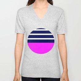 Summer Patio Perfect, Pink, White, Navy Unisex V-Neck