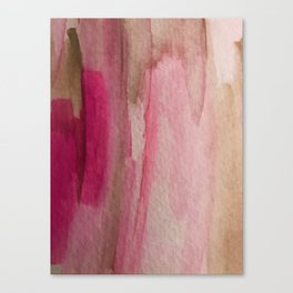 Blush: a pretty and gentle watercolor piece in pinks and browns Canvas Print