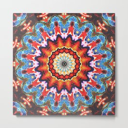 Colorful Mandala Pattern Metal Print
