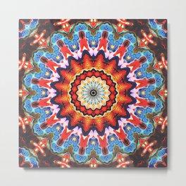 Colorful Mandala Pattern Metal Print