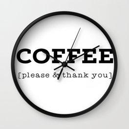 Coffee P's & Q's Wall Clock