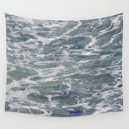 TEXTURES -- Ferry Wake in Puget Sound Wall Tapestry