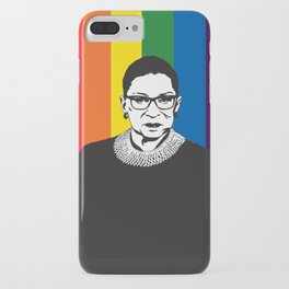 Ruth Bader Ginsburg Rainbow iPhone Case